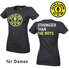 Golds Gym Ladies T-Shirt Stronger Than The Boys - Gym Fitness Sports Clothing