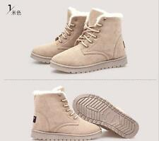 Womens Ankle Boots Winter Warm Thicken Lining Shoes Snow Boots Size
