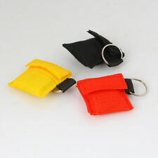CPR Rescue Mask Resuscitator Keychain Key Ring Emergency First Aid Face Shield