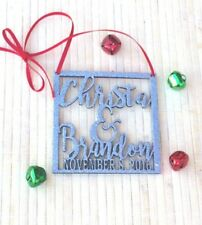 personalized ornament, personalized name ornament, christmas wedding ornament