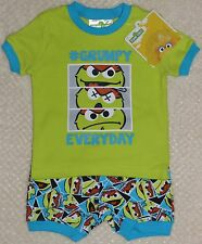 Sesame Street Oscar the Grouch Boy 2 pc Pajamas Pyjamas Set Sizes 0-18 Month New