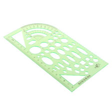 Multifunctional Plastic Drawing Curve Pattern Shape Stencil Template Ruler Tool