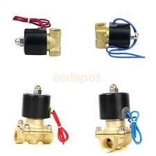 """Brass 1/2"""" or 1/4"""" Electric Solenoid Valve Water Air Fuels Gas Normal Closed"""