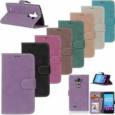Retro Flip Leather Wallet Cards KickStand Magnetic Case Cover For LG G2 G3 G4 G5