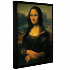 ArtWall Mona Lisa by Leonardo Davinci Framed Painting Print on Wrapped Canvas