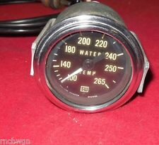 Vintage Stewart Warner 1/2 white needle mechanical water temp gauge Hot Rod Jeep