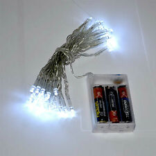 20 40 80 LED String Fairy Light Battery Portable Operated Xmas Wedding & Party