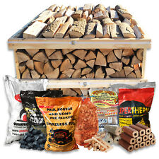 CRATE / PALLET KILN DRIED HEATLOGS FIRELOGS KINDLING COAL PEAT OPEN FIRES STOVES
