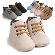 New Baby Hight Cut Toddler Soft Sole Leather Winter Shoes Infant Boy Girl Shoes