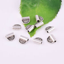 Antique Silver Spacer Charm Sided Bead Metal Jewelry Finding 8mm