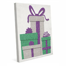 Click Wall Art 'Sour Apple Grape Gifts' Graphic Art on Wrapped Canvas