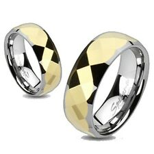 MENS or WOMENS TUNGSTEN TWO TONE PRISM WEDDING RING 5 6 7 8 9 10 11 12 13