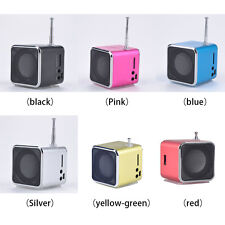 Portable LCD USB Mini Stereo MP3 Music Player Speaker FM SD TF Rechargeable MN