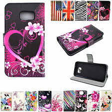 Boy Girl Stand Leather Card Wallet Pouch Cover Case For Samsung Galaxy S7 Edge