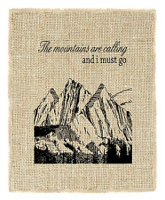 Fiber & Water 'The Mountains are Calling' Graphic Art