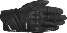 Womens Alpinestars Baika Black Leather Motorcycle Riding Street Racing Gloves