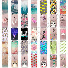 Patterned Soft Silicone TPU Transparent Back Case Cover For iPhone 7 Plus 6 6s 5