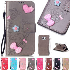 Luxury PU Leather Magnetic Flip Stand Card Slot Diamond Wallet Case For Iphone