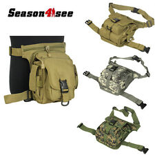 Airsoft Tactical Nylon Utility Drop Leg Panel Pouch Hoster Waist Bag for Hunting