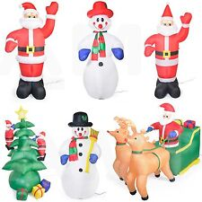 Santa Snowman Festive Xmas Tree Outdoor Christmas Inflatables 6ft 7ft 10ft TALL