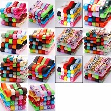 New 20 To 45 Yards Mixed  9MM Grosgrain Satin Ribbon Printed Cake Wrap Bow Clips
