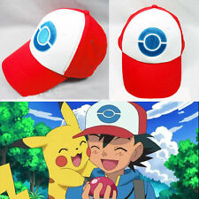 Fashion Pocket Monster Pokemon Trainer Ash Ketchum Baseball Cap Cosplay Hat Red