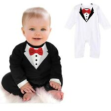 Toddler Baby Boy Rompers Spring Baby Clothing Sets Gentleman Roupas Infant Jumps