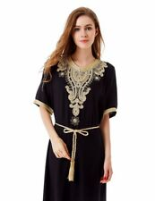Muslim women Long sleeve Dubai Dress maxi abaya jalabiya islamic women dress clo