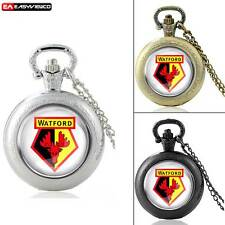 New DIY Watford Vintage Quartz Pendant Pocket Watch Retro Chain Necklace Gift