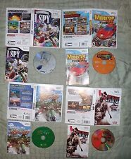 Wii Nintendo LOT of 4 Games Monster 4X4 I Spy Jet Ski Out Of The Chute