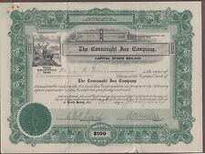 The Connaught Inn Company 1914 Stock Certificate Quebec Canada