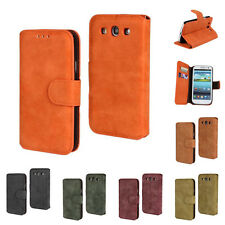 Vintage Soft Leather Flip Wallet Stand Case Cover For Samsung Galaxy S3 I9300