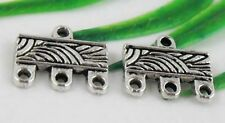 Free Ship 40Pcs Tibetan Silver (Lead-Free)3-To-1 Connectors  Findings 12x10mm