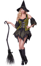 Ladies Bewitching Babe Halloween Witch Party Outfit Fancy Dress Costume