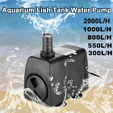 Aquarium Fish Tank Submersible Internal Water Pump Pool Fountain Use 300-2000L/H
