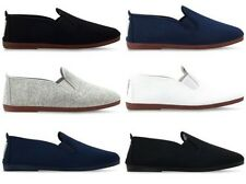 MENS FLOSSY FLOSSYS SLIP ON FLAT CANVAS PLIMSOLLS PUMPS SHOES SIZE 6-12 UK NEW