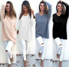 Sexy Ladies Warm Winter Long Sleeve Knitting Sweater  Jumper Loose Casual Tops