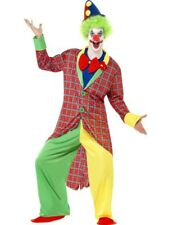Adult Mens La Circus Funny Clown Jester Male Outfit Fancy Dress Costume