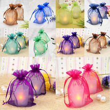100Pcs Organza Wedding Party Favor Decoration Gift Candy Bags Pouches Favor Bags