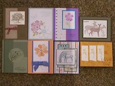 8 Handmade Get Well/Thinking of You Cards w/envelopes-Stampin Up & more