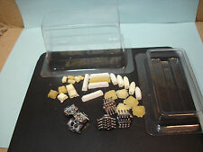 31 PIECE LOT OF H.O. SCALE DETAILING PARTS 6 CHROME MOTORS & 25 RESIN UNFINISHED