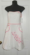 NWT LILLY PULITZER WHITE SPRING FLING EMBROIDERED BLOSSOM DRESS 10  $228