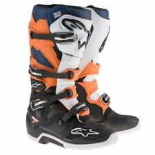 Alpinestars Tech 7 Black Orange White Blue Boots, Tech-7, NEW!