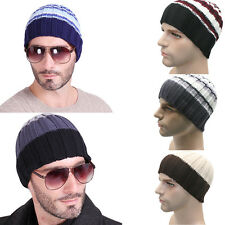 Winter Unisex Women Mens Knit Winter Hat Ski Crochet Slouch Baggy Beanie Hat Cap