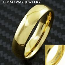 Engraved 6mm Tungsten Men's 14K Gold Plated Band Ring Size 5-14