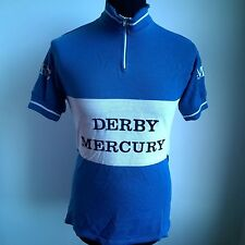 DERBY MERCURY RC VINTAGE CYCLING SHIRT 1980'S DMRC MADE IN BELGIUM SIZE ADULT M