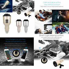 2 in 1 New Dual USB Port Car Charger & Bluetooth 4.1 Headset Wireless Earphone