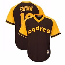 Tony Gwynn 1972 San Diego Padres Cooperstown Brown Away Cool Base Jersey Men's