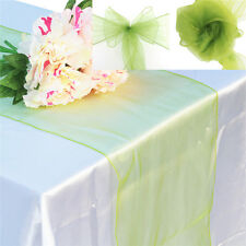 """Organza 12""""x108"""" Table Runners + 7""""x108"""" Chair Sashes Wedding Party Decorations"""