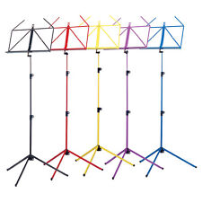 K&M 100/1 Metal Folding Adjustable Sheet Music Stand in Various Colours